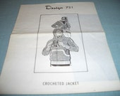 Design 721 Men's Crocheted Jacket