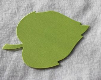 Large Die Cut Light Leaf Green Birch Leaves