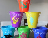 Personalized Sand Pail - Beach pail, vinyl, kids, toys, gifts