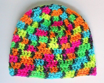 Baby Boy Rainbow Hat 6 Month Infant Girl Beanie  Winter Cap 3 To 9 Month  Bright  Orange Yellow Blue Green Pink Black Skullcap Fall Clothing