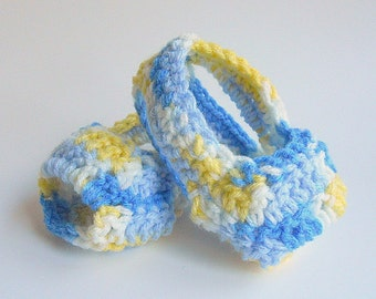 Infant  Boy Booties  3 To 6 Month Baby Girl  Sandals Blue Yellow White Gender Neutral Spring Accessory  Handmade Summer Clothing