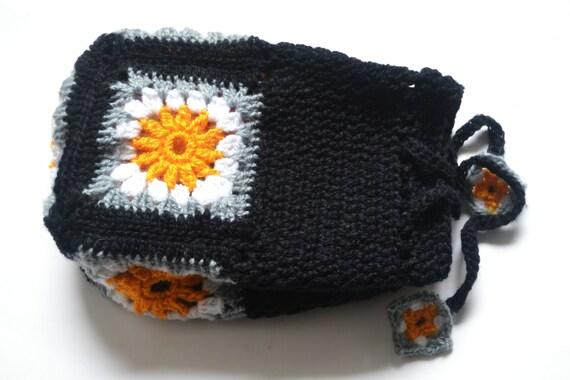 Crochet Drawstring Pouch Pattern : Crochet bag pattern crochet drawstring bag Granny by ...