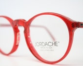NOS Vintage Zyloware Jordache Red P3 Eyeglass Frames Retro Eye Glasses