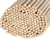 FREE SHIPPING - Wooden Birch Dowels 20 count pack - 1/8th by 12 inches