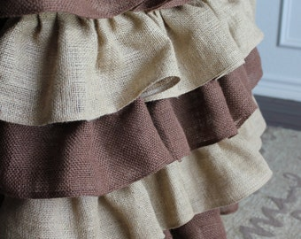 Burlap Curtains - Burlap Ruffles