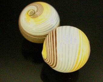 2pc 20mm handmade blown glass fancy beads-7022H