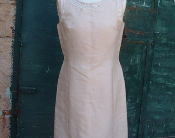 free shipping CHRISTIAN DIOR in silk dress in circa 1989's made in France dead stock never ware