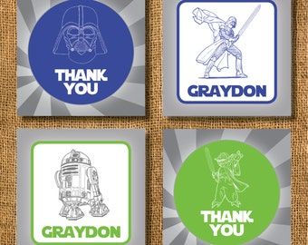 Star Wars Gift Tags or Calling Cards, Star Wars, Darth Vader Gift Tags, Boy Gift Tags, R2D2 Gift Tags, Yoda Gift Tags, Birthday Gift Tags
