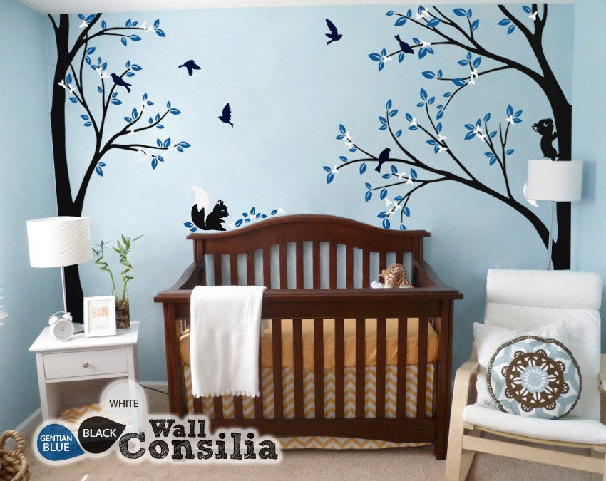 ... Decoration - Tree Wall Sticker - Corner Tree decal -. 🔎zoom