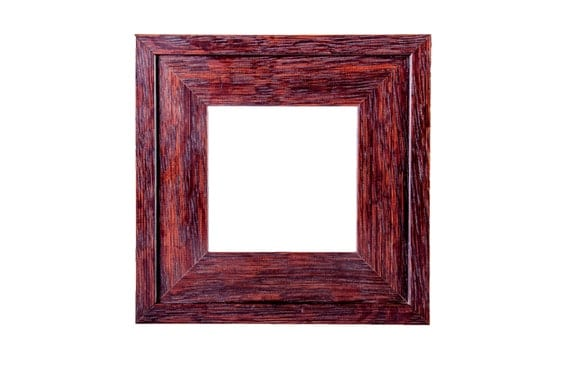 """Picture Frame, Marshall 4' x 4"""" Mission /Arts & Crafts style frame, Solid American quarter-sawn white fumed oak, pictures frames, wood frame"""