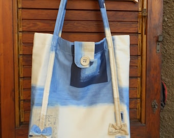 Tote bag, shopping bag, beach bag, handmade fabric bag