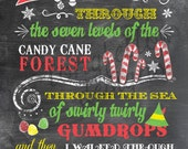 Buddy The Elf - Candy Cane Forest - Colorful Print - Fun For The Holidays - With Yellow or Aqua