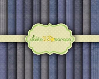 Blue Cedar - 24 Digital Scrapbook Papers - 12x12inch - Printable Grunge Backgrounds - INSTANT DOWNLOAD