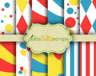 Carnival1 12x12 Circus Paper Circus Printable Circus Party Circus Background Carnival Paper Carnival Party Craft Papers INSTANT DOWNLOAD