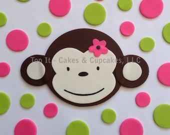 Fondant Cake Topper - Mod Monkey (Large)