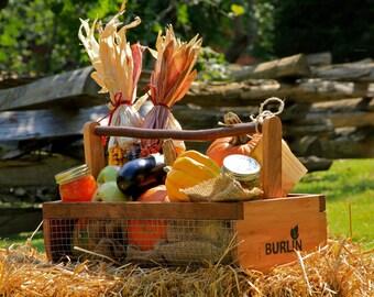 Garden Basket-Garden Harvesting Basket (BURLIN)- Vegetable Basket, Hod,Picnic Basket, Storage Basket, Medium Size