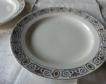 Set of 2 Gorgeous Antique Grindley Dinnner Plates, Made in England