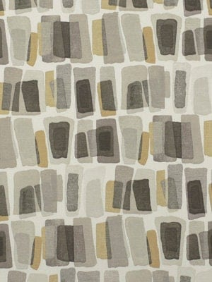 Grey Yellow Cotton Upholstery Fabric By The Yard Modern Grey