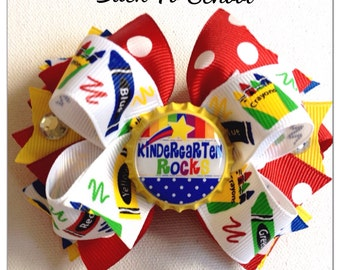 Back To School Bow - You Choose The Center - School Boutique Bow