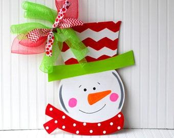 Door Hanger: Snowman Christmas Decor Christmas Door Hanger