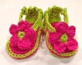 Baby Flip Flop Sandal 0-3 months Crochet