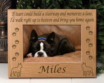 Boston Terrier If Tears Poem Dog Memorial Frame