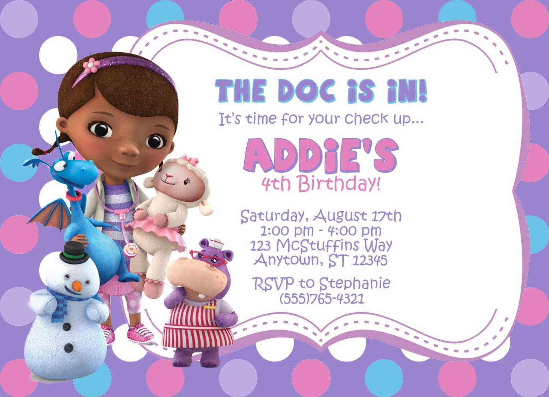 Doc Mcstuffins Invitations was adorable invitation sample