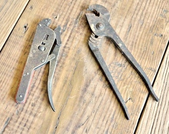 Salvaged Vintage Industrial Tools, Pliers, Rustic Home Decor