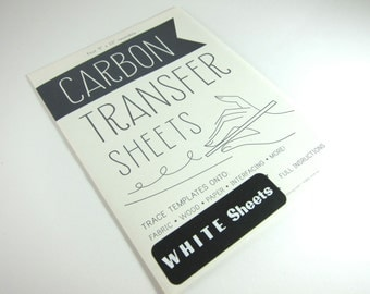 Carbon Transfer Paper for Image Transfer onto Fabric, Wood or Paper - Reusable White