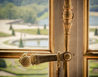 Versailles Photograph - Paris Photography - Versailles Window - Vintage, Soft, Retro - Versailles Palace - Hall of Mirrors