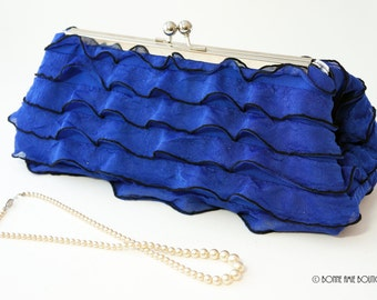 Royal Blue Clutch Purse - Wedding/Evening Handbag - Bridesmaid/Bridal Party Gift - Includes Chain -Ready to Ship!