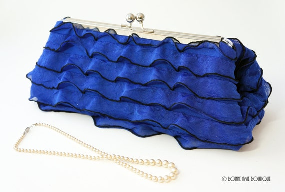 Royal Blue Clutch Purse - Wedding/Evening Handbag - Bridesmaid/Bridal Party Gift - Includes Chain -Ready to Ship