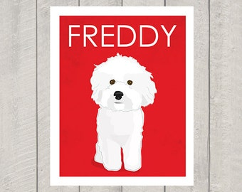 Bichon Frise - Custom Dog Art