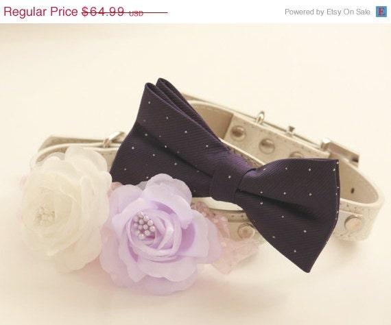 Purple Wedding Dog Collar Bride Made & Best Man By LADogStore