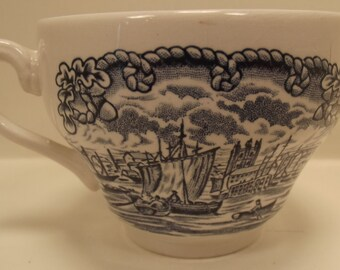 ANTIQUE Port of Hull Historical Ports of England Coffee or TEACUP / Mug / Cup