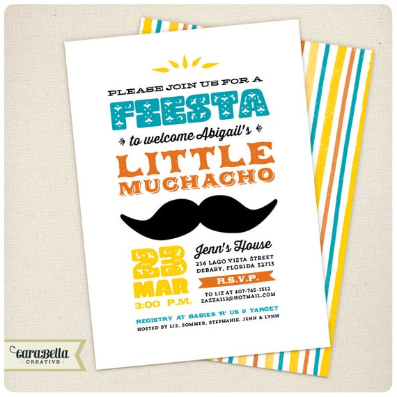 Mexican Baby Shower Invitations with luxury invitations ideas