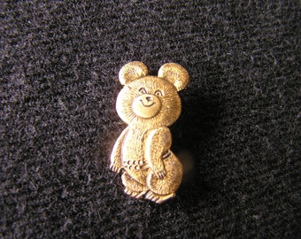 Olympic pins Olympic pin Russian Mishka bear Moscow OG 1980 Russian Olympic Games Vintage bear pin Pins collecible