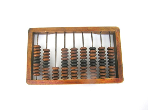 Soviet Vintage Abacus Primitive Calculator