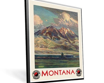 Montana Sights Vintage Poster Reprint 9x12 PopMount Ready to Hang FREE SHIPPING 310110912