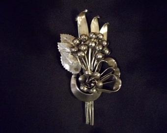 Hobe Sterling Silver Vintage  Brooch