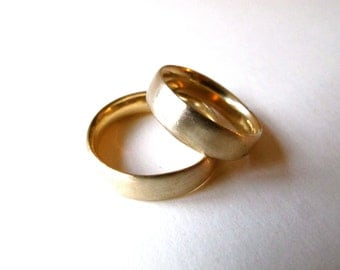 solid 14k yellow gold band ring