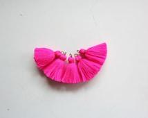 Mini Tassels Hot Pink Jewelry tassels Tiny Tassels Mini Tassels for Jewelry Small Tassels for Bracelets Cotton Tassels Small Tassels