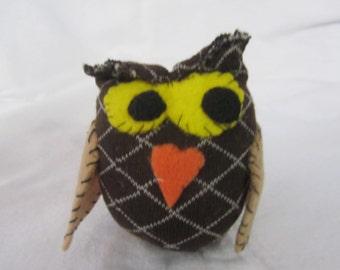 Sock Owl Soft Doll Handmade