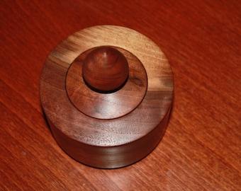 Black walnut decorative bowl with lid
