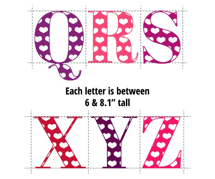 Digital Alphabet Letters ClipartValentine Hearts Alpha Letters
