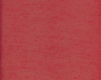 Red Polyester Fabric Reclaimed from Estate Sale Craft Supplies