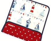 Nautical Travel changing mat - Nautical changing pad - changing mat - nautical baby - waterproof changing mat - portable changing mat.