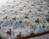 Quilt - King Size - Winter Deer