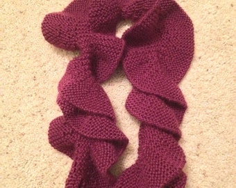 Knit Ruffled Scarf