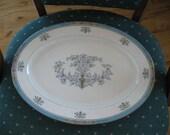 Rare Lenox Blue Tree Antique Medium Platter, Great, Lenox Black backstamp, Gold trim